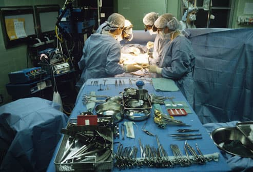 Surgical Team Conducting Liver Transplant
