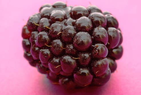 close up of blackberry