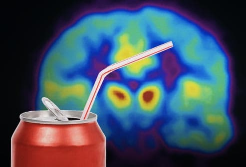 soda can and brain scan
