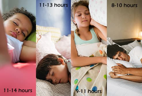 kids of different ages sleeping