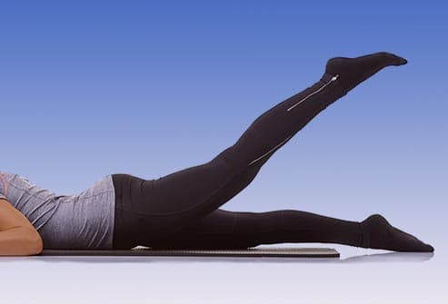 Getty Rf Photo Of Prone Straight Leg Raise