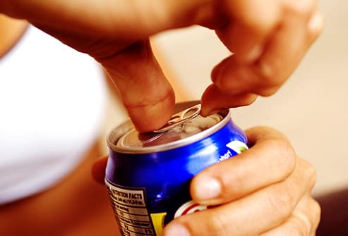 opening soda can