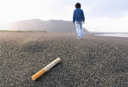 evidence that patients who quit smoking after learning they have