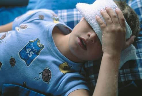 child with headache