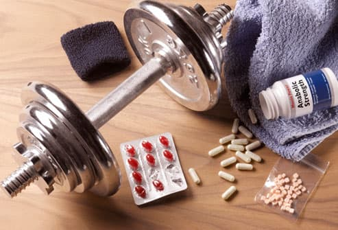 Weight-lifting gear and steroids