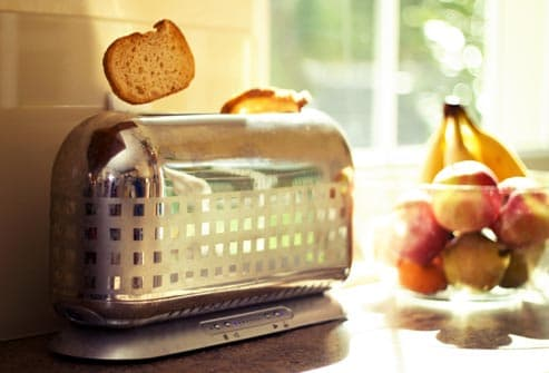 toaster and fruit