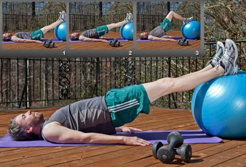 Hamstring Curl With Ball