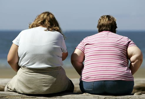 Obese females who are most unlikely to lose weight are most in need of losing it