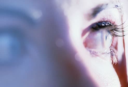 Close-up of a young woman's eyes