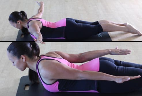 woman exercising upper back