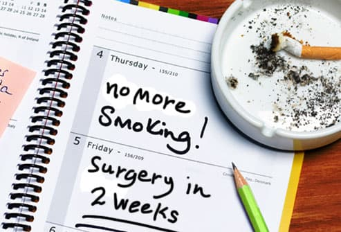 Note written in planner to quit smoking