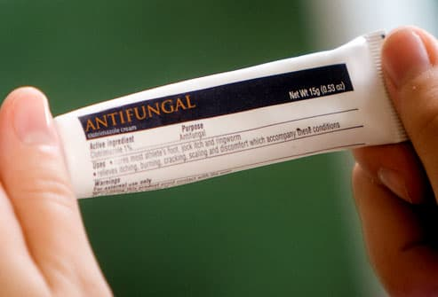 Close-up of antifungal cream