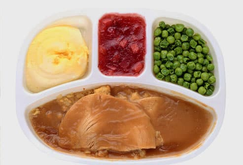 TV Dinner with turkey and stuffing