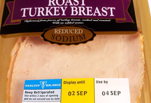 Labeling on package of sandwich meat