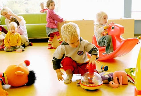 Children Playing At Daycare