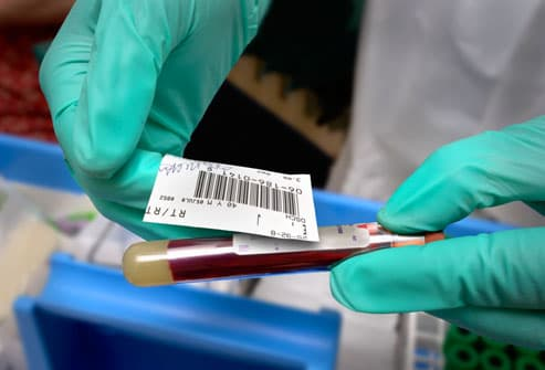 Tagging a Blood Sample