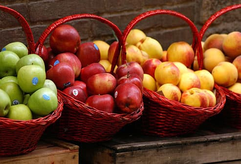 apples peaches and nectarines