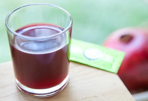 grenadine with stevia packet