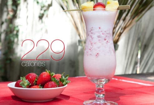 pina colada with strawberries