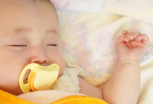 Sleeping Baby With Pacifier
