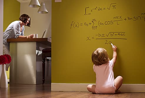 baby doing complex math