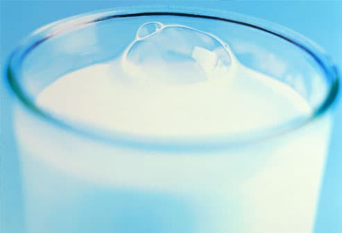Glass of milk, close-up
