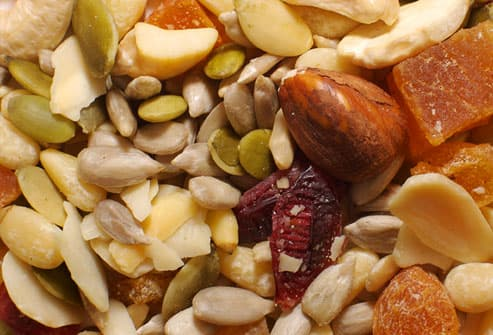 Nuts, seeds, and dried fruit