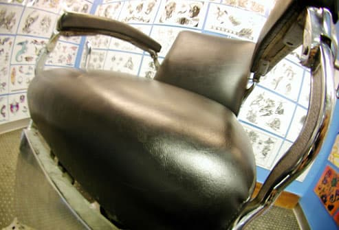 Chair in Tattoo Salon
