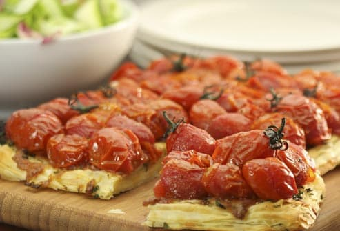 fresh tomato tartlets