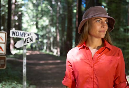 Woman On Nature Trail