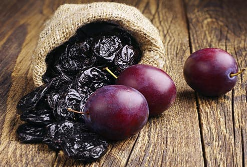 prunes and plums