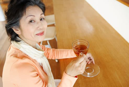 Menopausal Woman Drinking Tea