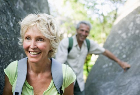 older couple hiking