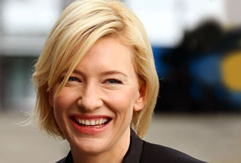cate blanchett laughing