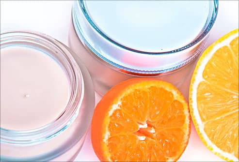 skin cream with oranges