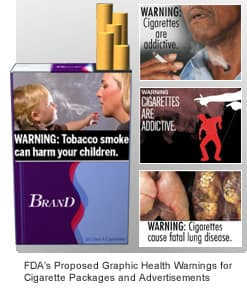 FDA proposed cigarette warning labels 