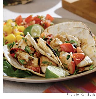 Charred Tomato &amp; Chicken Tacos
