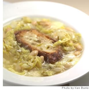 Italian Peasant Soup With Cabbage, Beans & Cheese