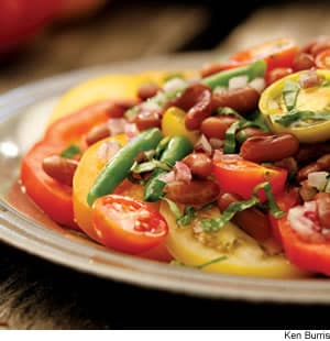 Bean & Tomato Salad With Honey Vinaigrette
