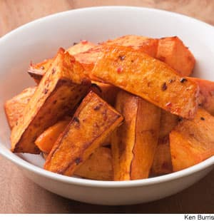 Chile-Garlic Roasted Sweet Potatoes