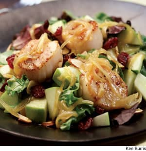 Curried Scallop-Apple Salad