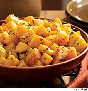 Oven-Roasted Squash With Garlic & Parsley