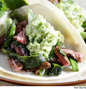 Poblano & Skirt Steak Fajitas