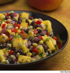 Roasted Corn, Black Bean, & Mango Salad