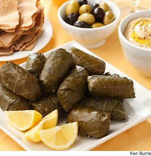 Turkey & Quinoa Stuffed Grape Leaves