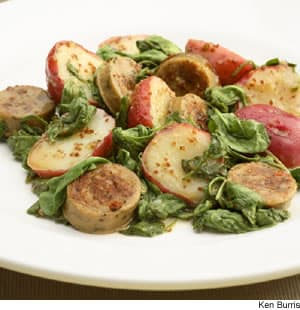 Warm Chicken Sausage & Potato Salad
