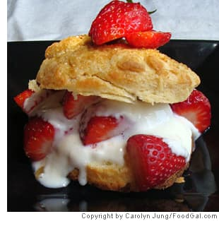Almost Guilt-Free Strawberry Shortcakes
