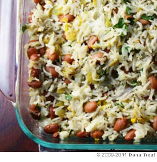Baked Rice With Chilies and Pinto Beans
