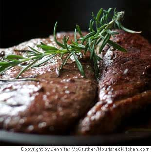 Braised Steak With Red Wine and Rosemary