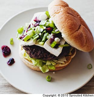 Brie and Cranberry Burger